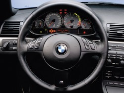 BMW E46 M3 Coupe: Interior LHD Steering Wheel