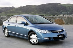 2006 Honda Fd3 Civic Hybrid Blue Front Quarter Australia