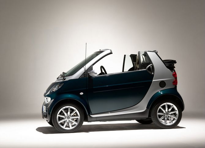 review smart a450 fortwo cabrio 2004 06. Black Bedroom Furniture Sets. Home Design Ideas