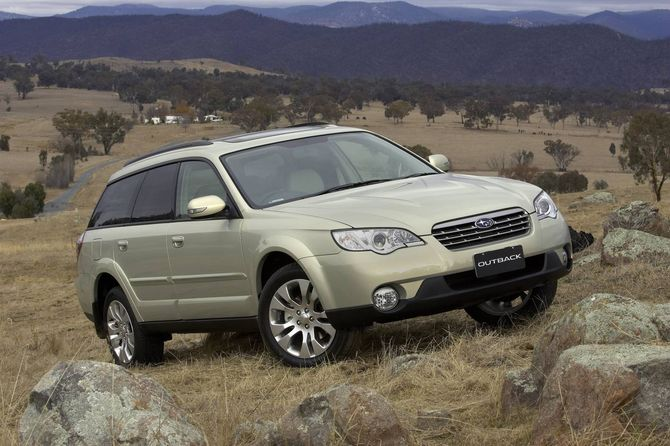 review subaru bp outback 2003 09. Black Bedroom Furniture Sets. Home Design Ideas